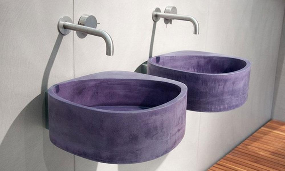 Viseći betonski lavabo
