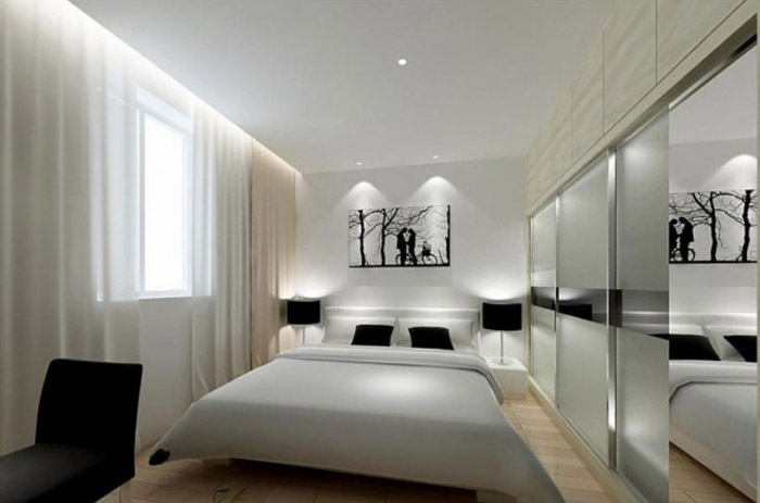 Crno bele sobe slika2 bravacasa magazin for Minimalist black and white bedroom