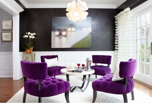 Dnevne sobe sa purpurnim naglascima slika2