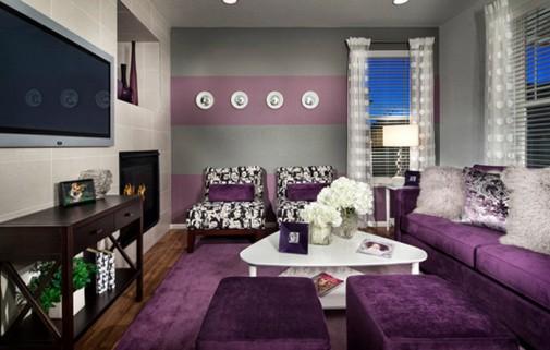 Dnevne sobe sa purpurnim naglascima slika3