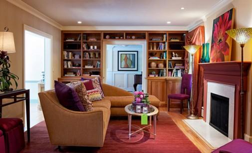 Dnevne sobe sa purpurnim naglascima slika4