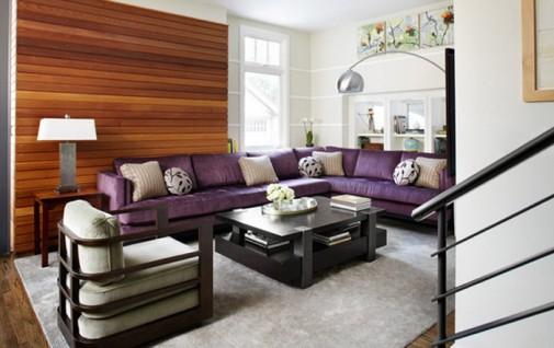 Dnevne sobe sa purpurnim naglascima slika5