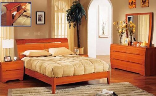 Drveni nameštaj u spavaćoj sobi slika4