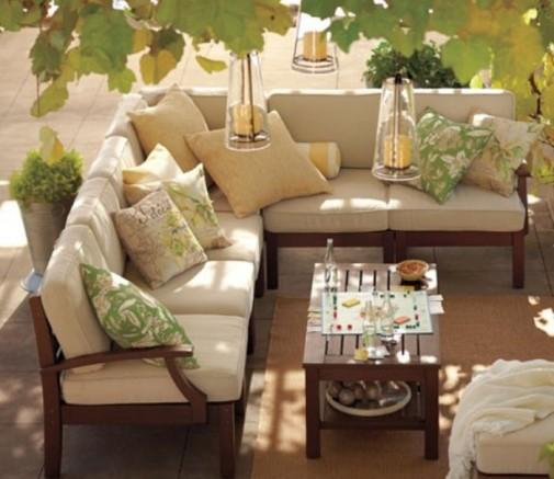 Elegantne terase i verande u neutralnim nijansama slika5