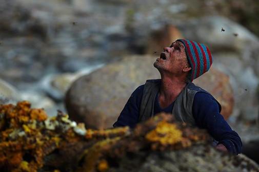 Tradicionalno skupljanje meda u Nepalu slika 6