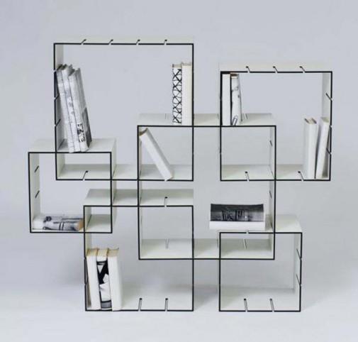 Zanimljive police za knjige slika4