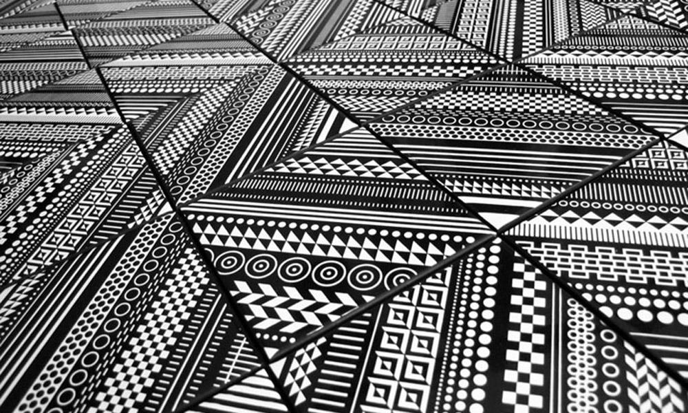 Crno bele pločice