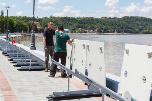 Mobilni paneli za odbranu od poplava u Golupcu