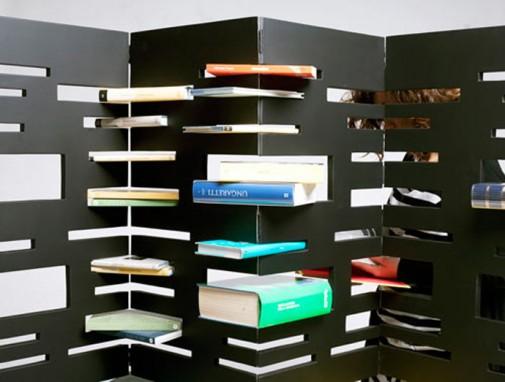 Polica za knjige koja se pretvara u paravan slika 3