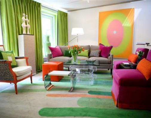 Šarenoliki dizajn dnevnih soba slika3