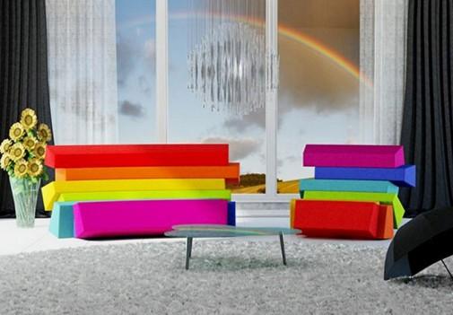 Šarenoliki dizajn dnevnih soba slika4