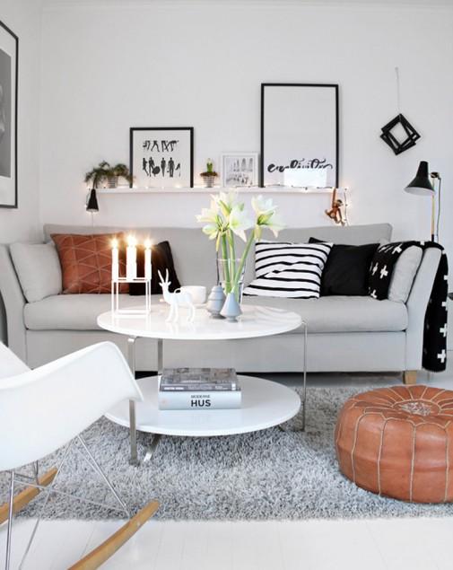 Male dnevne sobe uređene sa stilom slika3