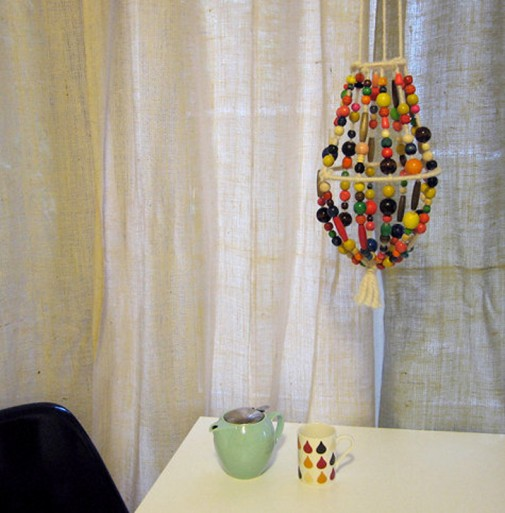 Napravite sami lampu od drvenih perli slika4