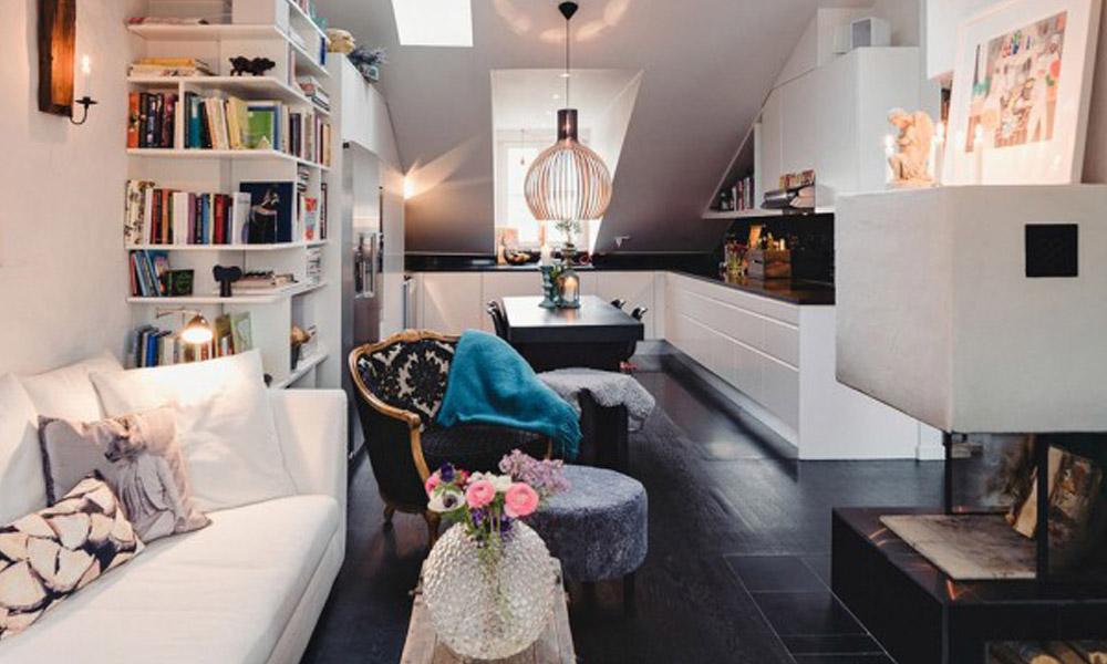 Predivan dizajn stana u Stokholmu