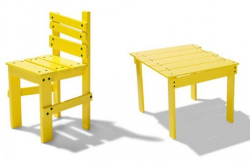 Zabavan žuti dečiji nameštaj slika2