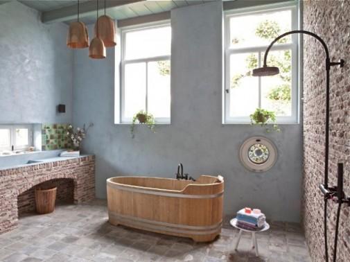 Zidovi od opeke u kupatilima