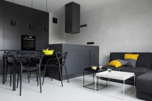 Moderan crno-beli stan u Poljskoj