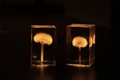 Elegantna LED lampa sa maslačkom