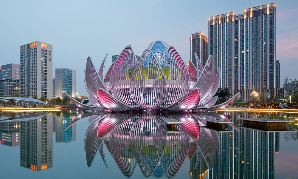 Zgrada kao lotosov cvet