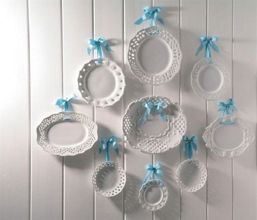 Fantastične ideje za dekoraciju zida tanjirima
