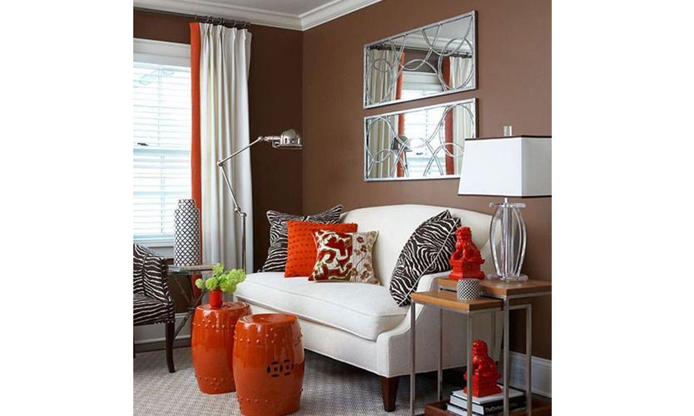 Dnevna soba dekorisana u jesenjem stilu