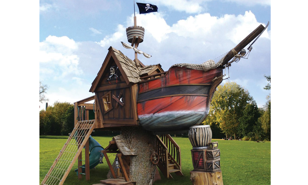 Kućica za igru u obliku piratskog broda