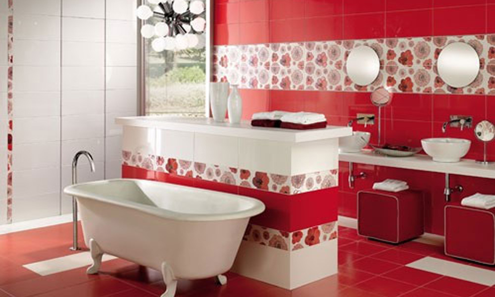 Kupatila u crvenoj boji