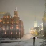 Oktobarski sneg u Moskvi