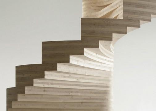 Drvene spiralne stepenice 2