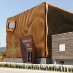 Drvena fasada koja izgleda kao talas