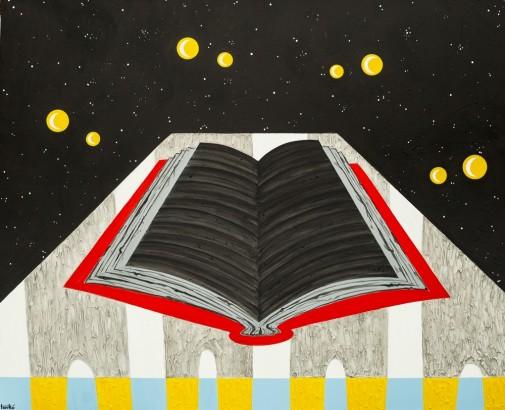 Knjiga tišine 150x120cm, akril na platnu, 2015