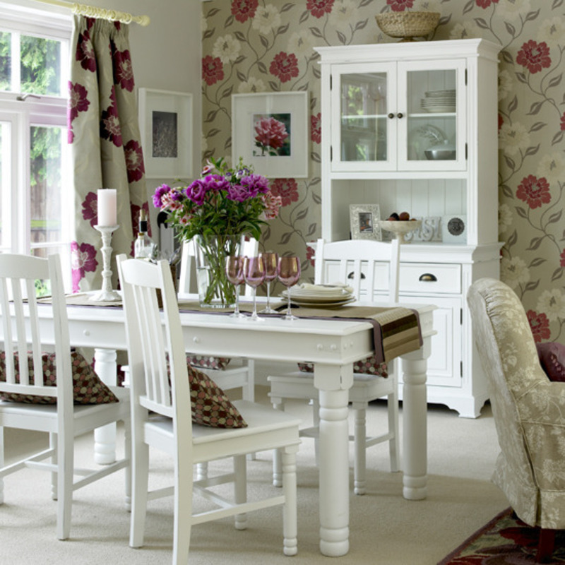 romantic dining room, dining room, romantic design
