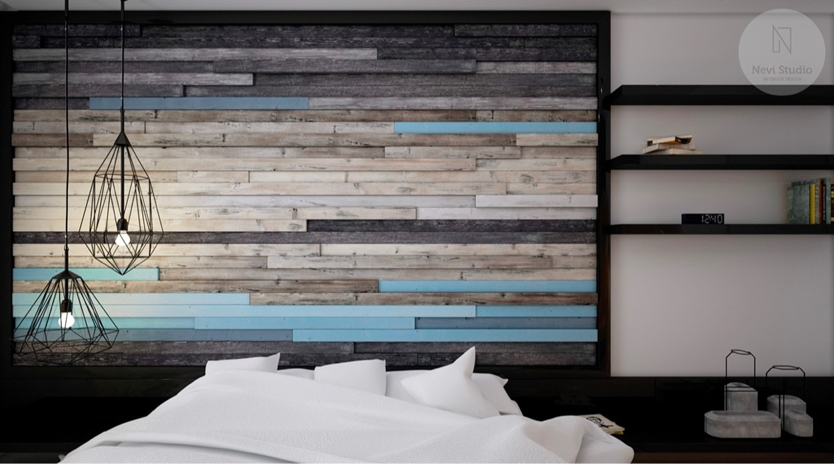 bedroom-accent-wall-horizontal-colored-slats