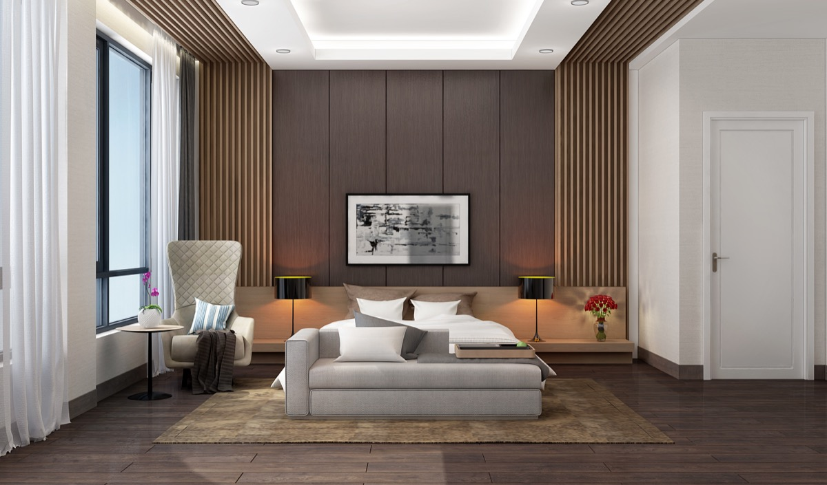 bedroom-accent-wall-wooden-panelling-slats