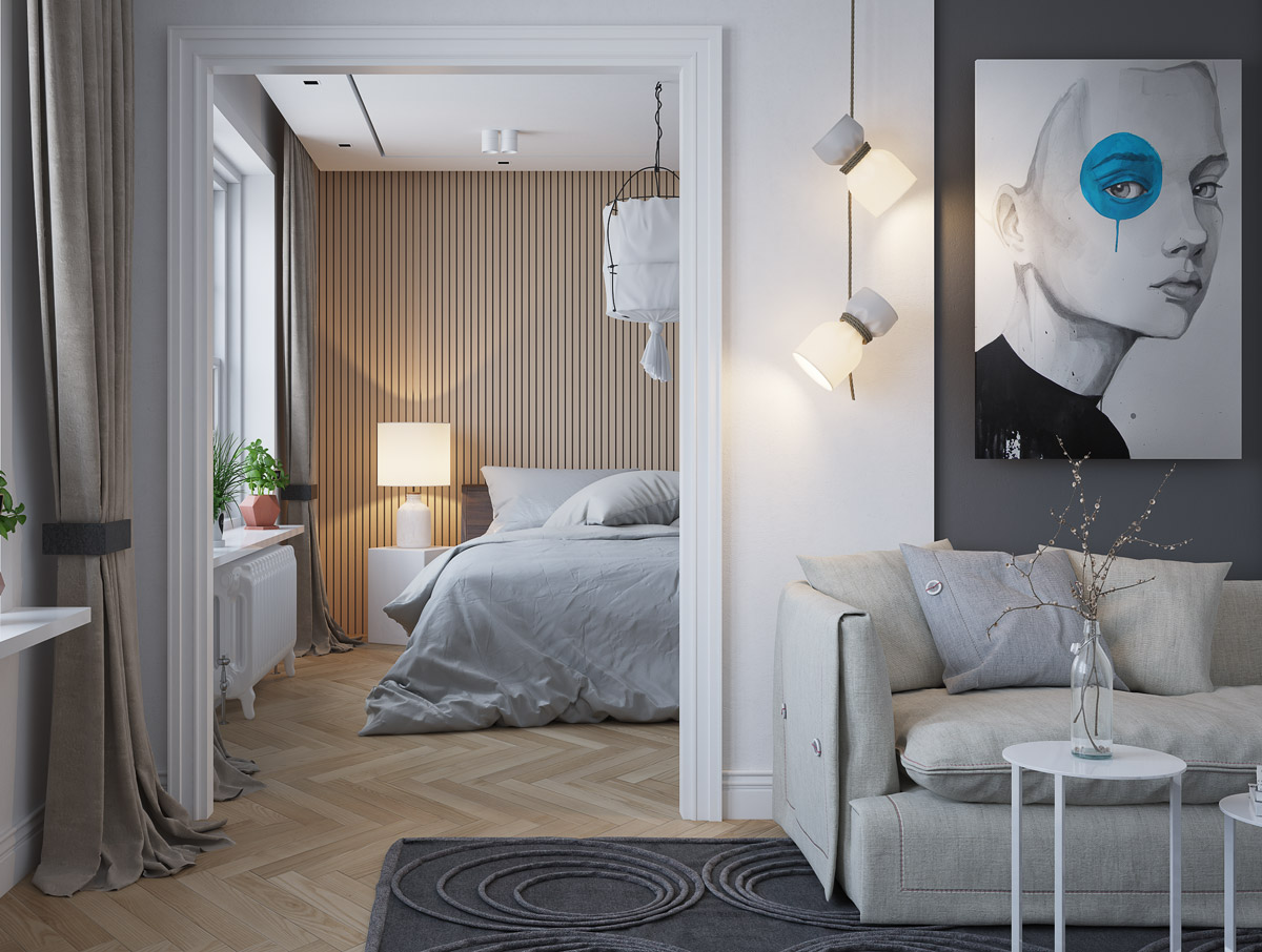 bedroom-accent-walls-wooden-slats-artwork