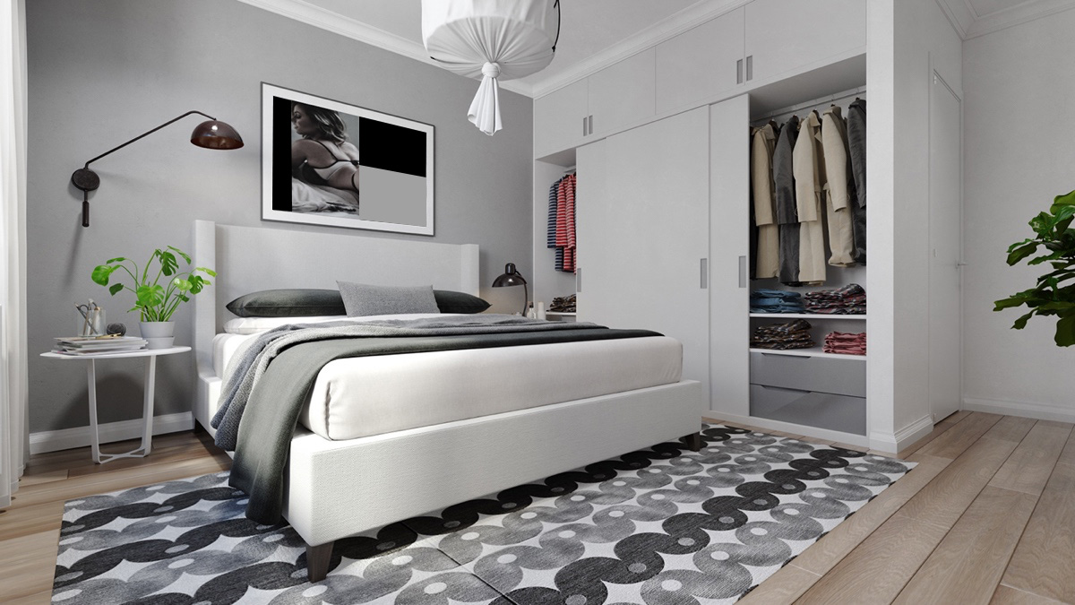 patterned-rug-grey-and-white-bedroom-1