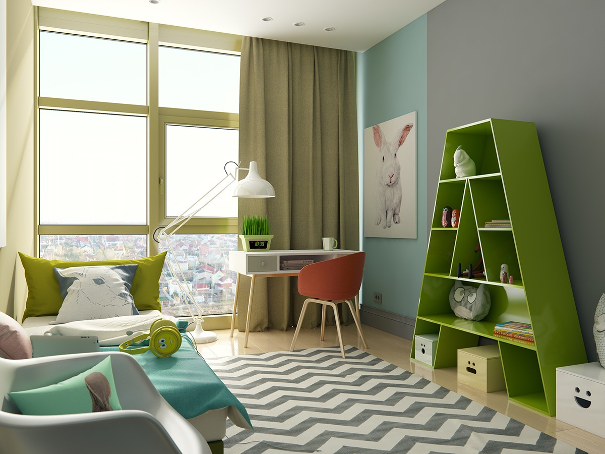 super-bright-colors-for-kids-bedroom