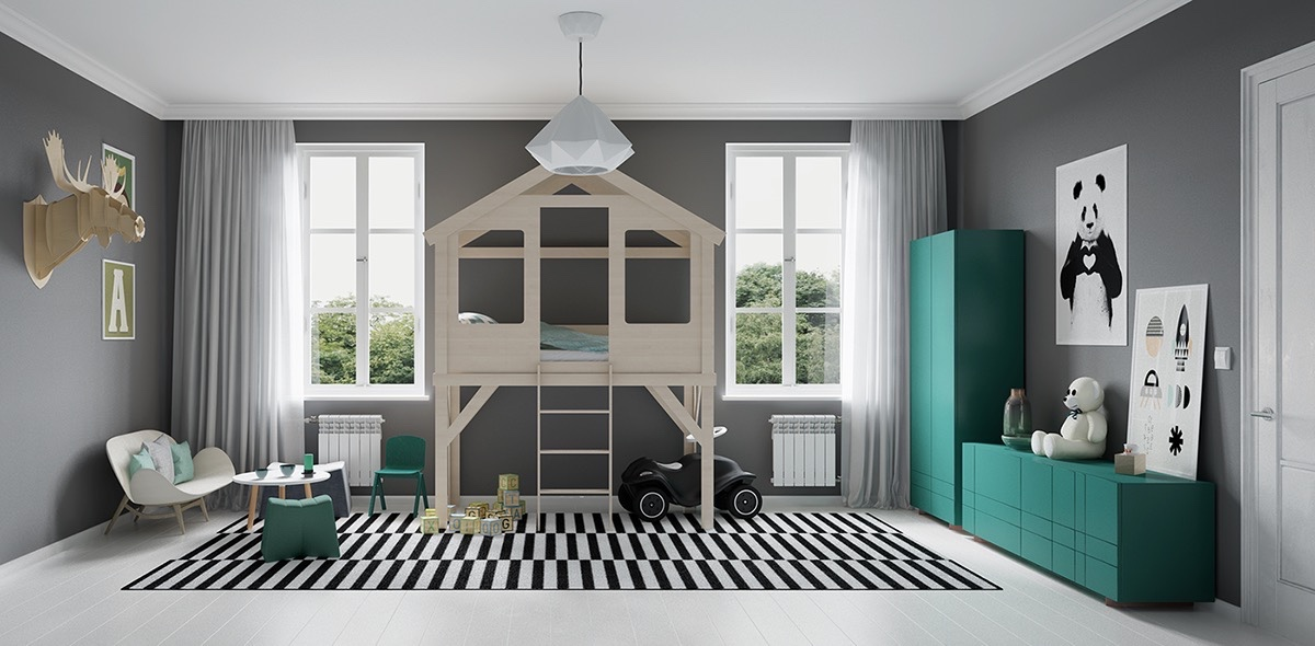 teal-and-grey-kids-bedroom