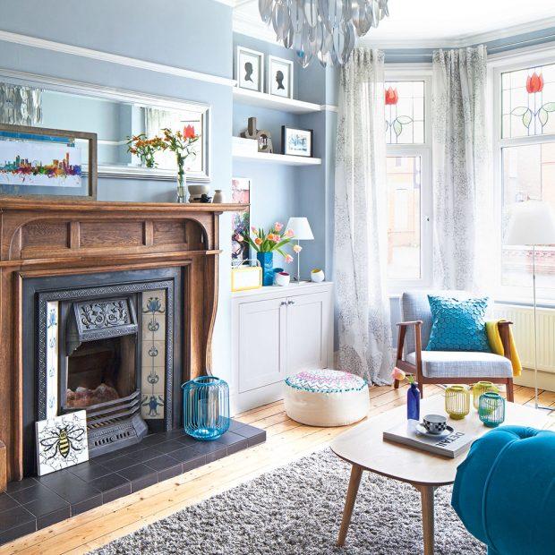 Dnevna soba u plavim tonovima bravacasa magazin for Duck egg dining room ideas